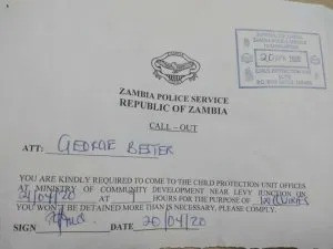 Father summoned by Zambia police after video of him beating up his son for missing English & Maths Exams but getting