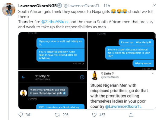 South African lady refers to Nigerian girls as