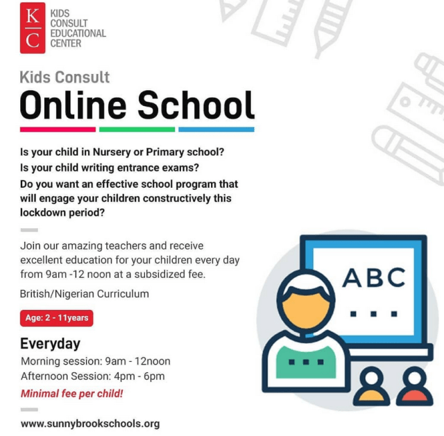 Kids Consult Online School ...  full school online program that will engage your children constructively this lockdown period