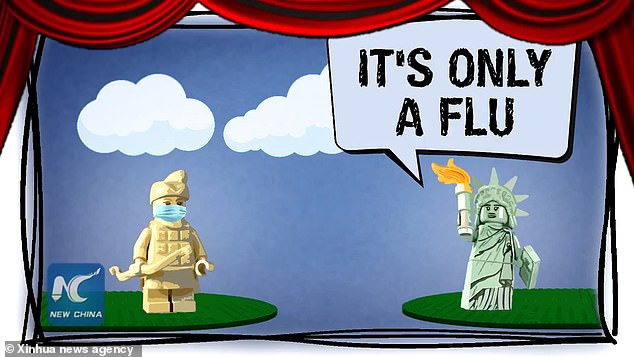 See the new animation created and published by China mocking the US