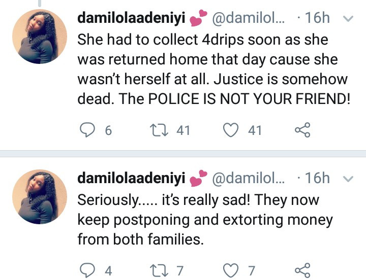 """Justice is dead"" Lady cries out as an 18-year-old girl suffers severe trauma allegedly after being drugged and raped by 5 male friends"