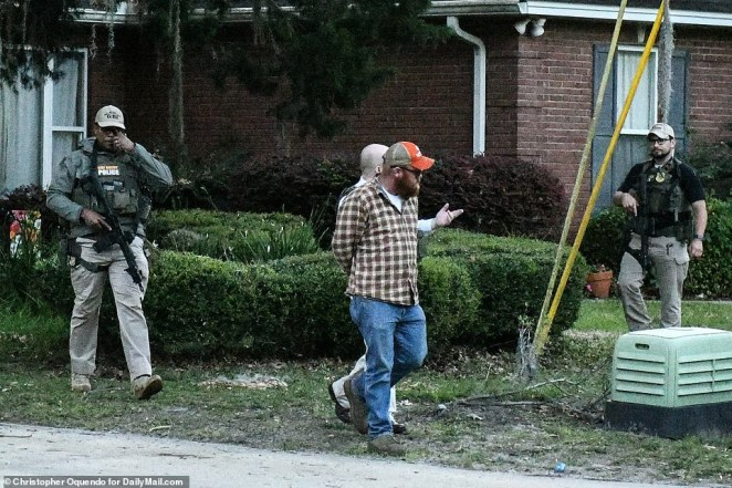 See moment father and son involved in the killing of black jogger Ahmaud Arbery were arrested at their home by heavily-armed officers?(Photos/Video)