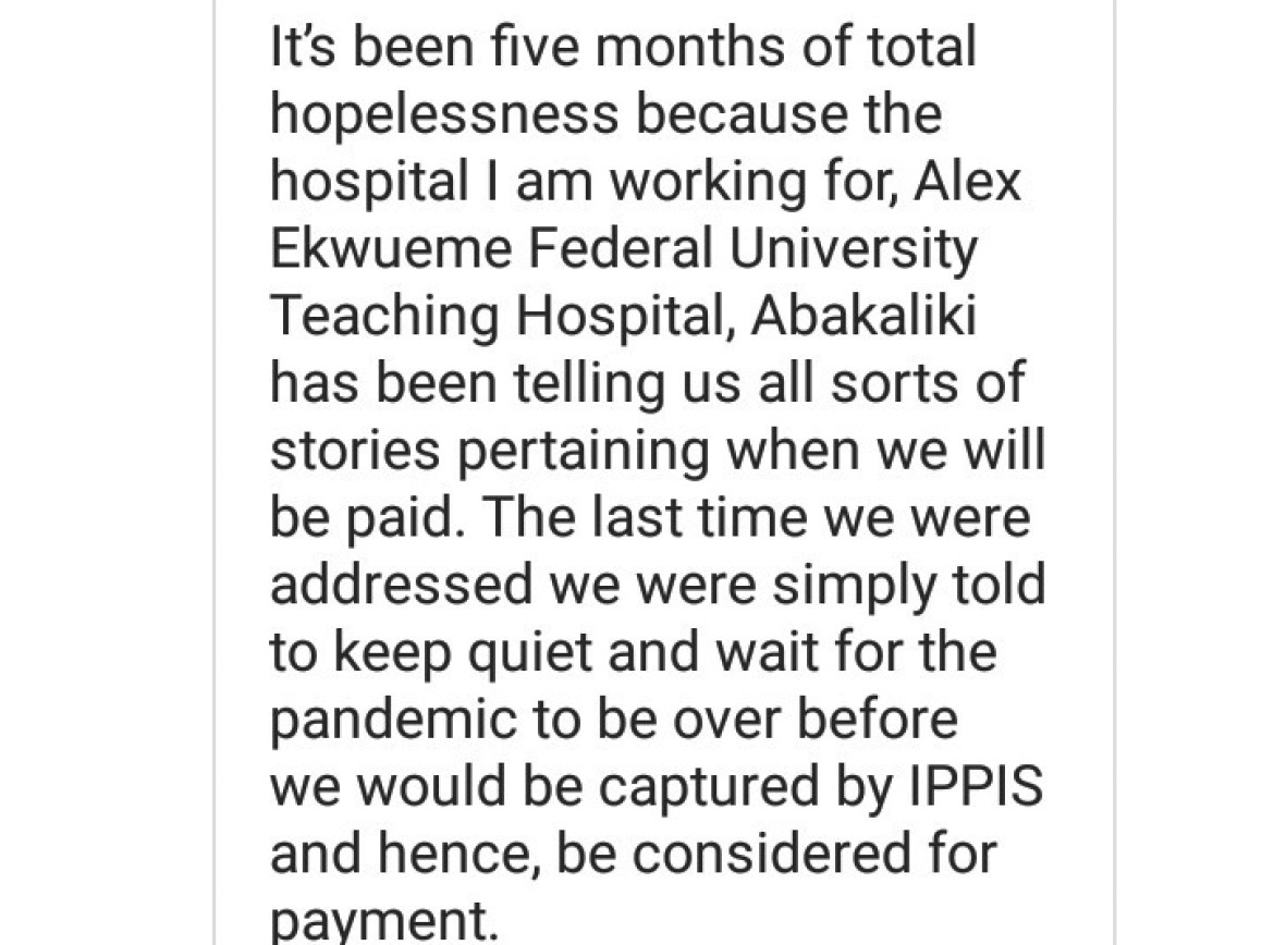 AEFUTH doctors narrate how they