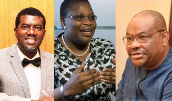 You are a house rat that tells the bush rat where to go - Reno Omokri slams Oby Ezekwesili for criticizing Governor Wike over demolition of hotel