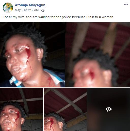 Nigerian Man Terribly Beats Up Wife