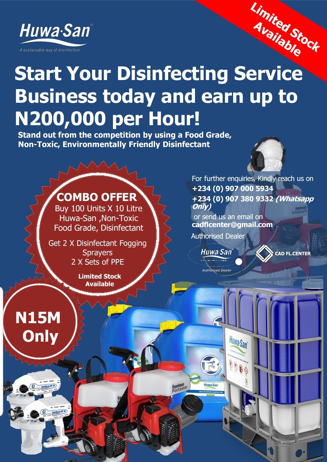 Start Your Disinfecting Service Business today and earn up to N200,000 per hour!