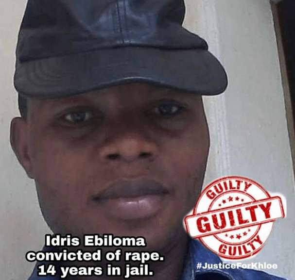 Man who raped 4-year-old Khloe at her parents home in Abuja is sentenced to 14 years in jail