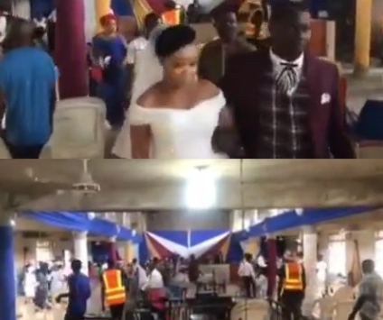 5ec1340783d72 Couple and their guests take to their heels as COVID-19 task force disrupt their wedding in Cross Rivers state