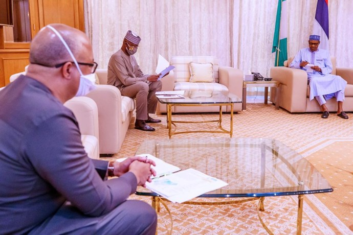 5ec17358bd10c President Buhari receives post lockdown report from COVID-19 task force team (photos)