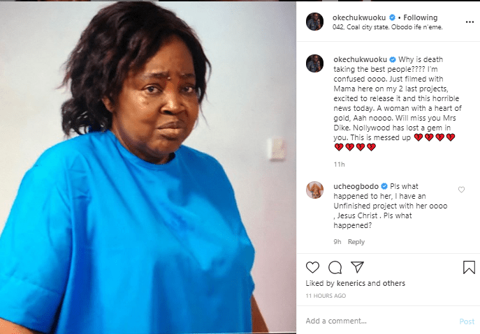 Nollywood actress, Emilia Dike slumps and dies in Enugu