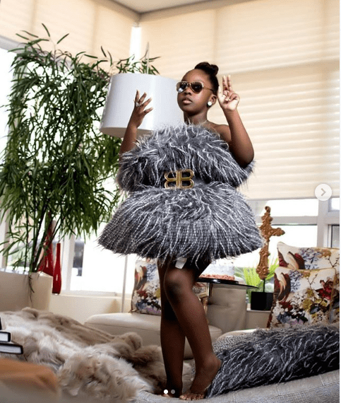 Timaya's first daughter, Emma celebrates 8th birthday with new stylish photos