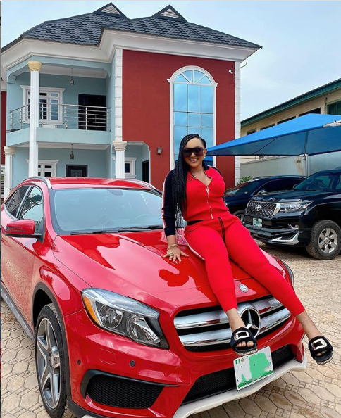Actress Mercy Aigbe buys a new Mercedes Benz