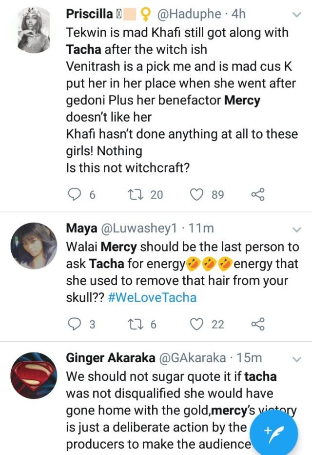 Mercy and Venita Mocks Tacha