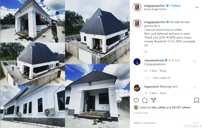 Rapper Erigga shows off his new house (photos)
