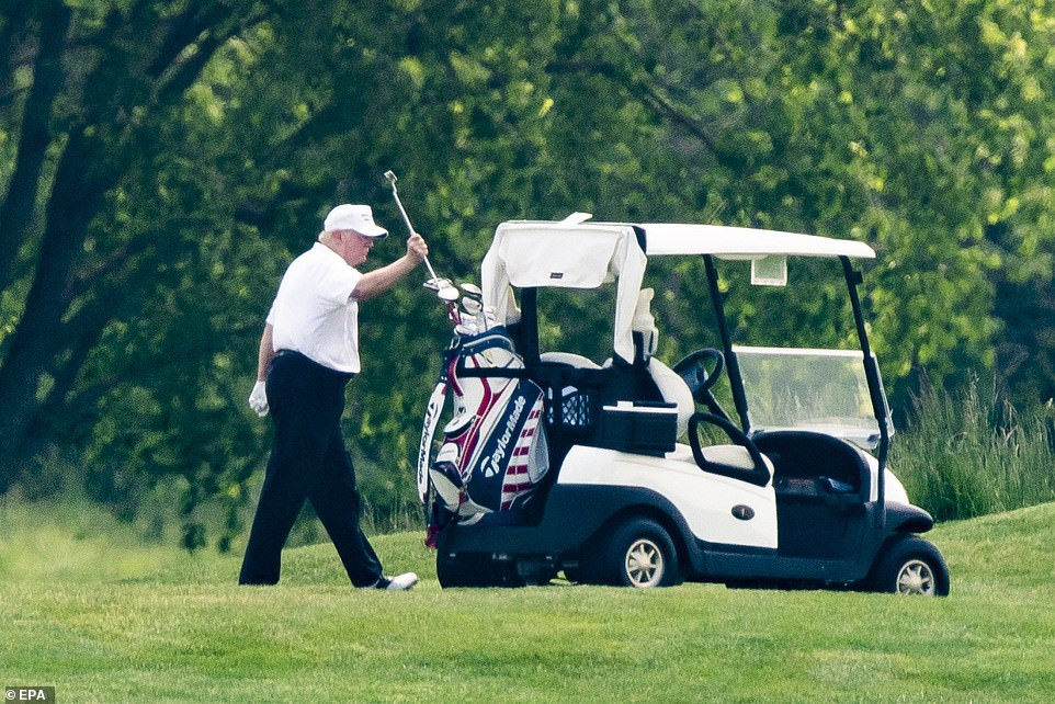 Old tweets of Trump criticizing Obama for golfing during the Ebola crisis resurfaces after Trump was pictured playing golf amid Coronavirus pandemic