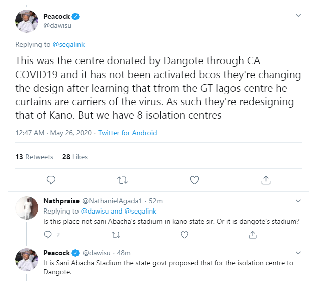 Where are the 800 Coronavirus patients, this Corona na lie lie o - Man says as he shares a video from empty isolation center allegedly in Kano (video)