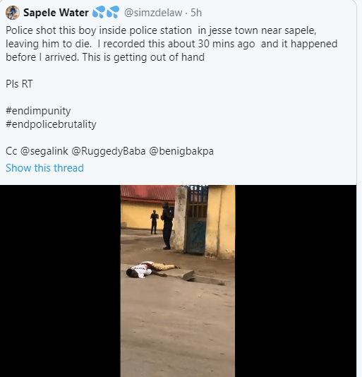 Delta state police command reacts to viral video claiming its officers shot man dead in Jesse