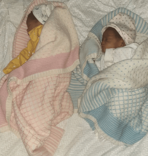 Gani Adams and wife welcome set of twins (photo)