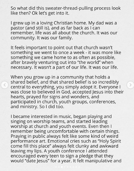 Canadian Gospel Singer And Son Of A Pastor, Jonathan Steingard Reveals That He No Longer Believes In God