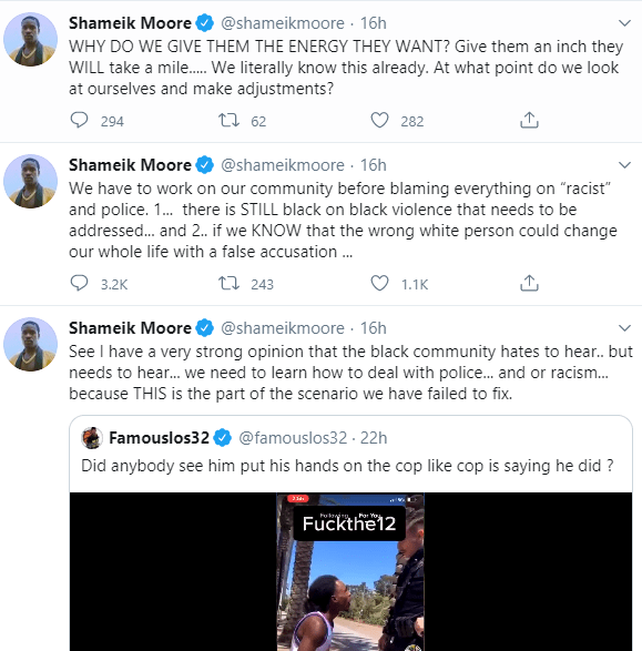 Spider-Verse star, Shameik Moore is dragged on Twitter for suggesting Black people need to