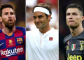 Roger Federer edges out Lionel Messi and Cristiano Ronaldo to take the number one spot on Forbes' Athletes Rich List