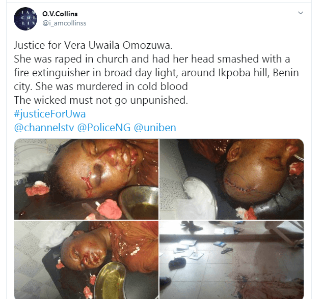 22-year-old UNIBEN Student Raped And Killed In A Church