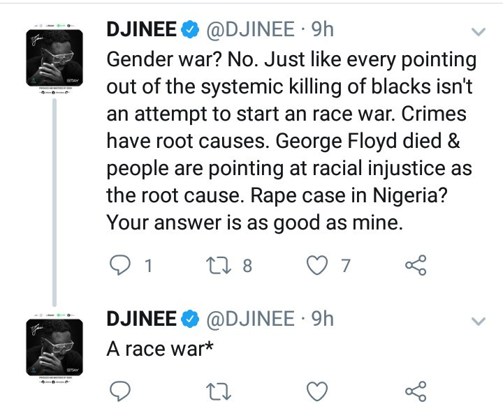We all have to admit our parents failed woefully in rasing the male child - Djinee reacts to the rape and murder of Uwa Omozuwa