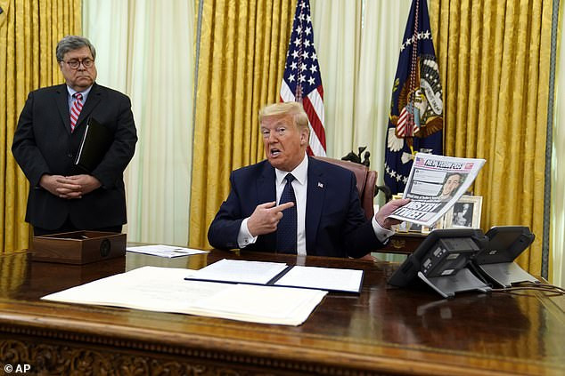 Trump holds crisis talks with AG Bill Barr and governors while hidden in secure White House bunker during violentprotests over death of George Floyd