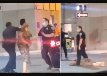 Baltimore cop is suspended after knocking out a black woman who punched his white colleague twice in the head (Video)