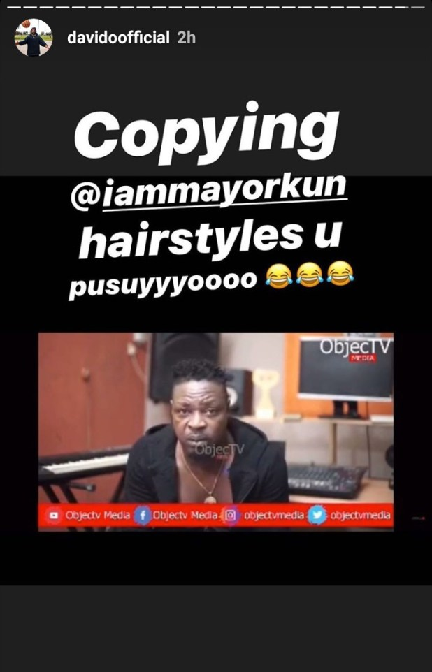 "Davido calls Eedris Abdulkareem a ""pu**y"" after the veteran rapper praised him as ""the only Odogwu"""
