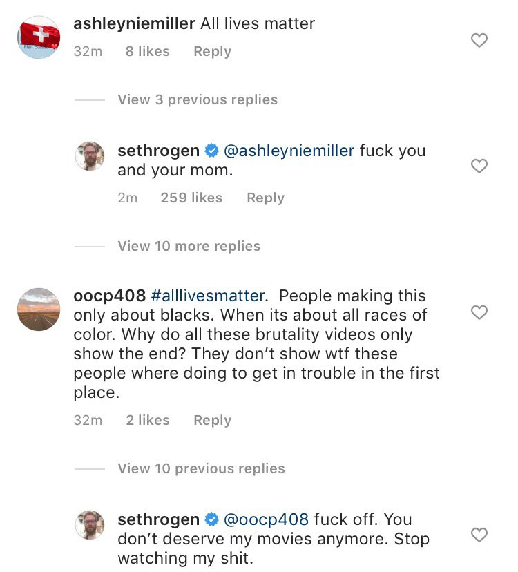 """Actor Seth Rogen says """"F*CK OFF""""  to Instagram followers who had issues with his ?Black Lives Matter? post"""