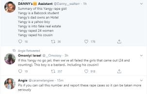 Babcock student, Yangy accused of raping 24 girls lindaikejisblog 14