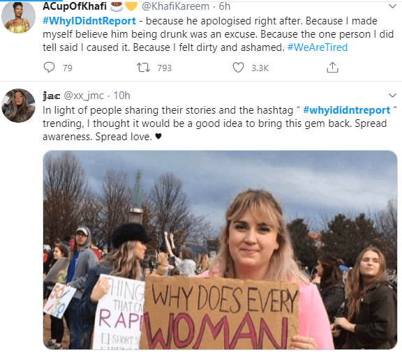 #WhyIDidntReport trends on Twitter as rape survivors reveal why they kept quiet after being abused