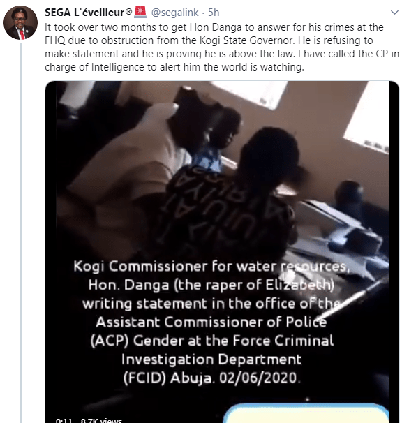 Kogi Commissioner that allegedly battered and raped beauty queen is called in for questioning after damning evidence against him was gathered (video)