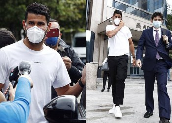 Ex-Chelsea striker, Diego Costa handed 6-month prison sentence and slapped with £482k fine by Spanish authorities in tax fraud case (photos)