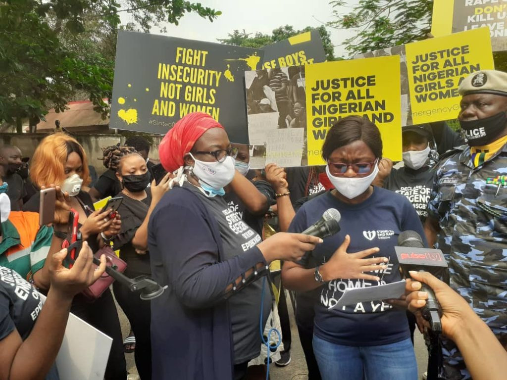 """Disappointed with the response we got at the Command Headquarters"" Bolanle Olukanni says as 'End Rape' protests hold in Lagos and Abuja (photos/videos)"