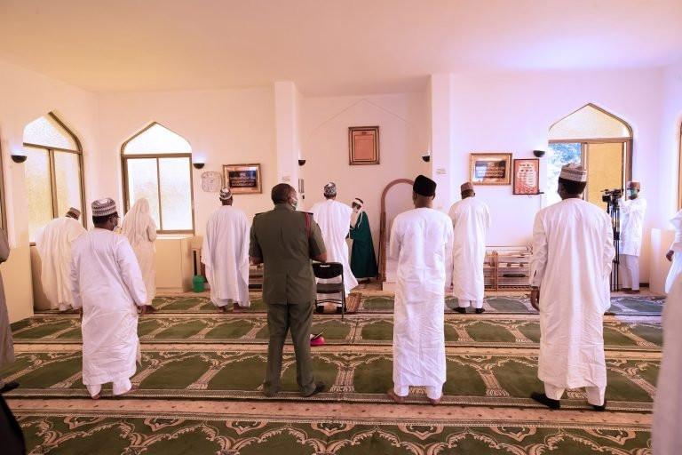 Social distancing observed as President Buhari, others observe Juma