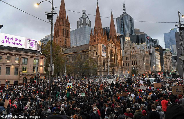 Black Lives Matter protester tests positive for Coronavirus after going to rally attended by 10,000 people in Australia