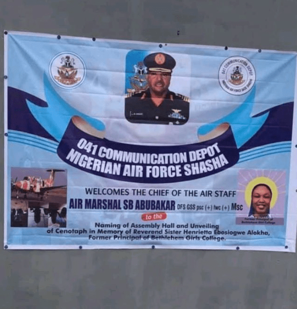 NAF immortalizes Reverend Sister who died rescuing her students during the Abule-Ado explosion (photos)