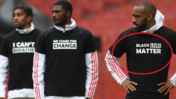 Players' names on the back of shirts to be replaced with 'Black Lives Matter' when Premier League resumes