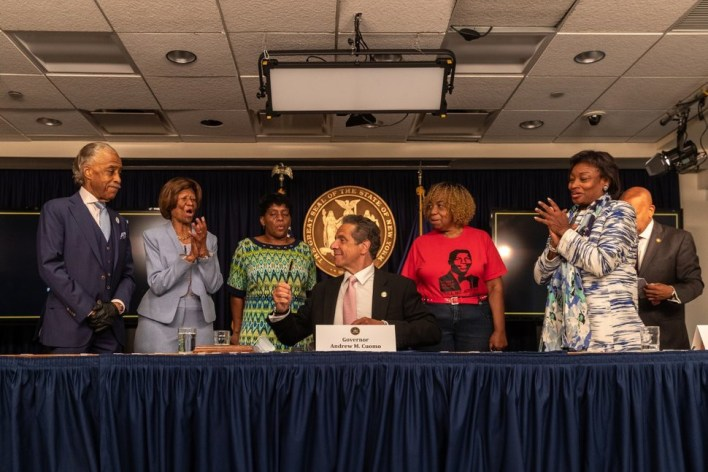 New York Gov. Andrew Cuomo officially signs into law that chokeholds are now illegal after George Floyd