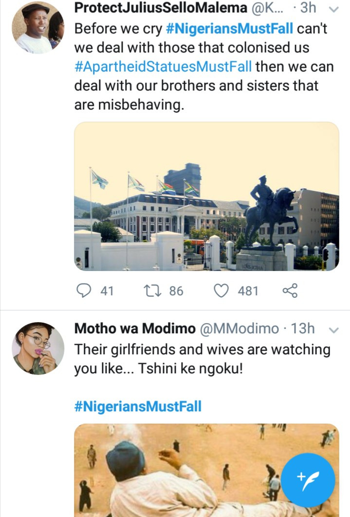 #NigeriansMustFall trends in South Africa after a video of a South African woman stripping and twerking for Nigerian men went viral (video)