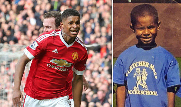 Man. U. star Marcus Rashford reveals how the club allowed him to join their academy underage after his mum explained her poverty situation