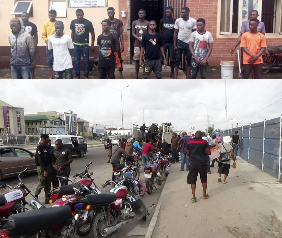 21 miscreants and suspected cultists arrested in Lagos (photos)