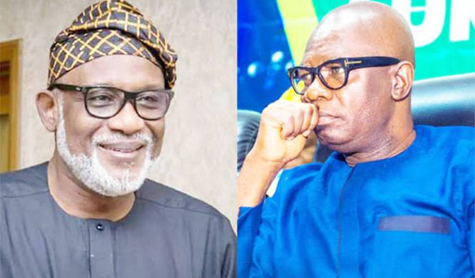 Governor Akeredolu denies asking the police to stop his Deputy from leaving the state house over alleged plan of dumping APC for PDP