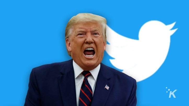 Twitter puts warning on Trump