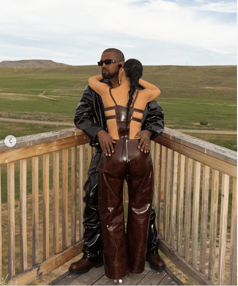 Kim Kardashian and Kanye West all loved up in new stylish photos?