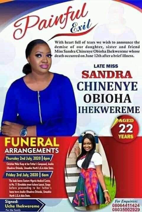 """Nigerian lady dies two months after posting """"if I die during Lockdown no need for autopsy"""""""