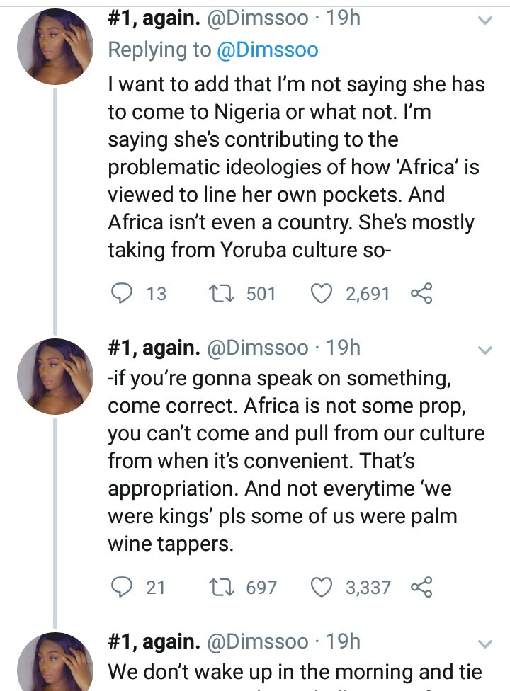 "Nigerian model calls out Beyonce for ""contributing to the problematic ideologies of how Africa is viewed"