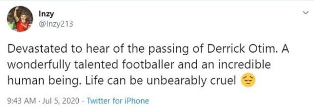 5f01c806ccad9 - English-born Ghanaian Footballer, Derrick Otim Dies After Drowning in a Lake